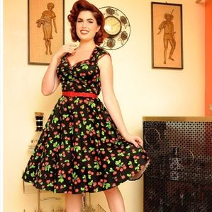 Pinup Couture cherry Heidi dress